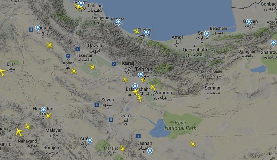 اپلیکیشن ردیابی پرواز هواپیما هک شد