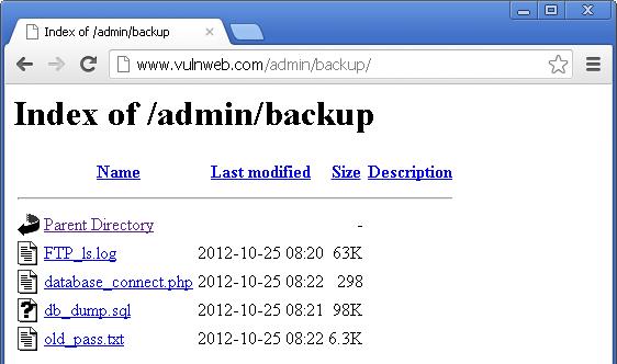 ضعف امنیتی Directory Listing