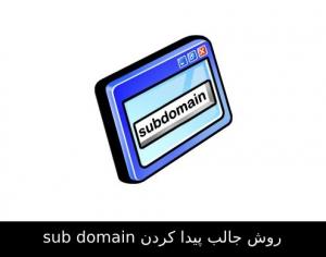 روش جالب پیدا کردن sub domain